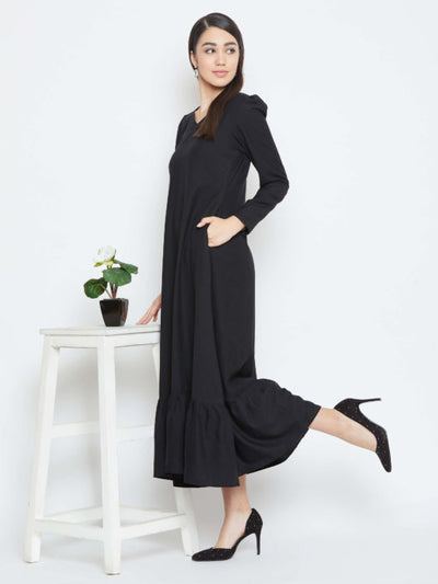 For women only- A classic Black Maxi dress