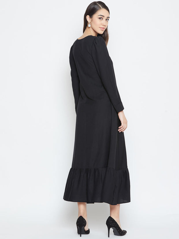 Find the stylish black dress from thesvaya