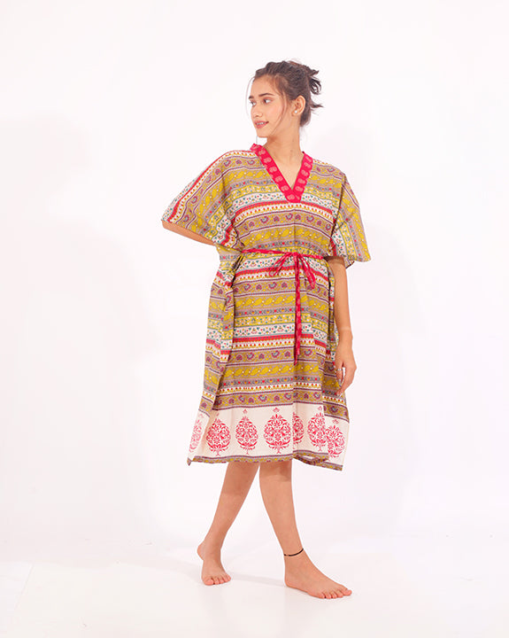 Cotton Relaxed Fit Sleepwear Kaftan