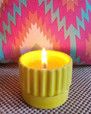 Ceramic Fragrance Beeswax Candle - Take me away dancing in a tropical paradise