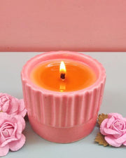 Ceramic Fragrance Beeswax Candle - Take me away where the wild roses are