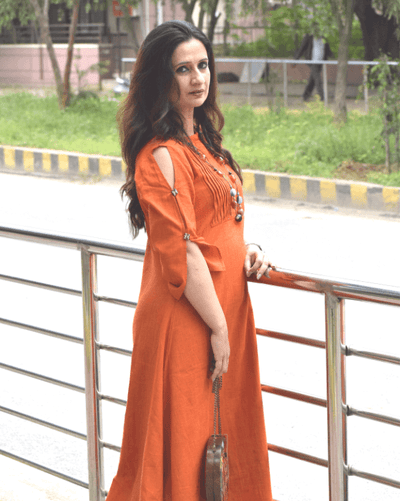 Gerua Tunic Dress - Rust
