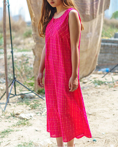 Our Gyaro dress in fuchsia