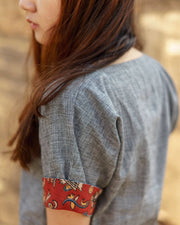 The kalamkari sleeve detailing in our cotton top