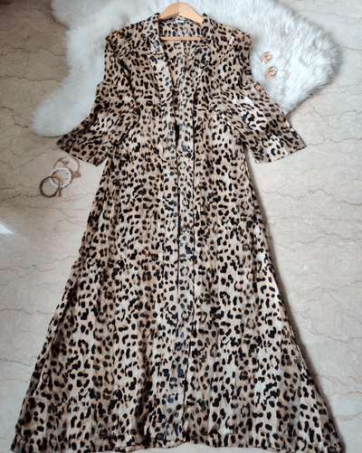 Leopard Print Tux Jacket For Women