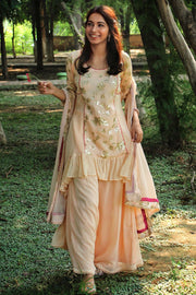 Own this Beautiful Peach kurta set from thesvaya