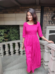 Pink Box Pleated Dress