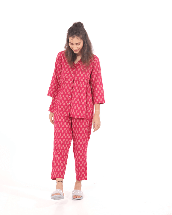 Cotton sleep wear for women in pink
