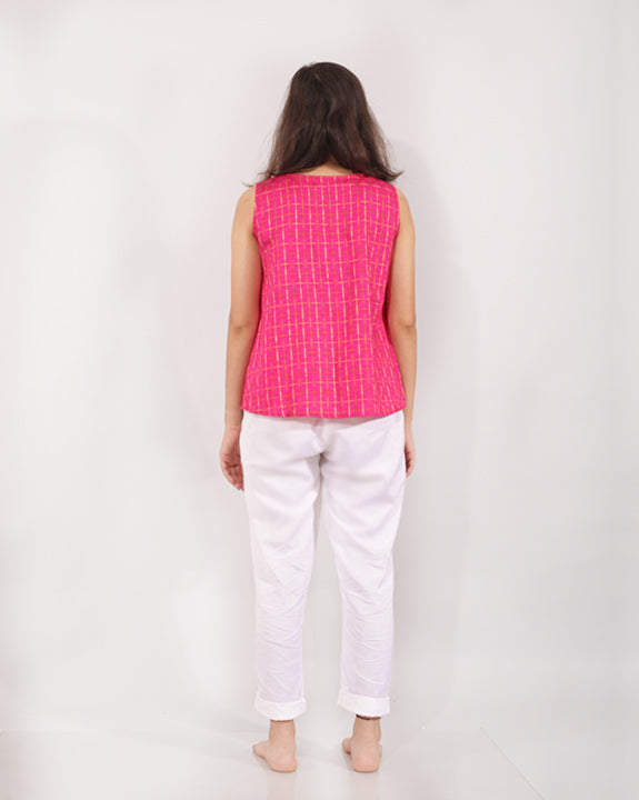Magenta Pink Cotton Top