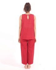 Red ComfortWear 2 Piece Set For Women