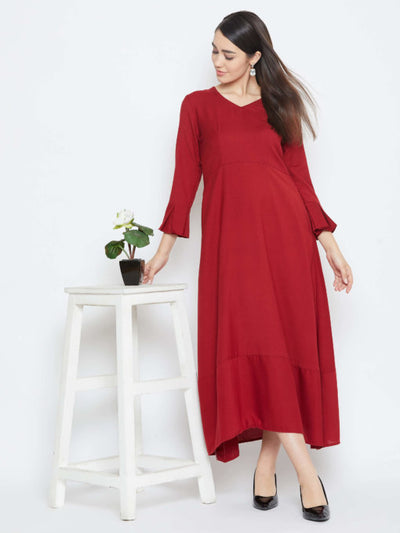 Red Winter Maxi Dress