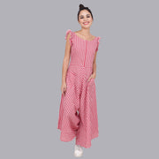 Women's Red Plaid Jumpsuit