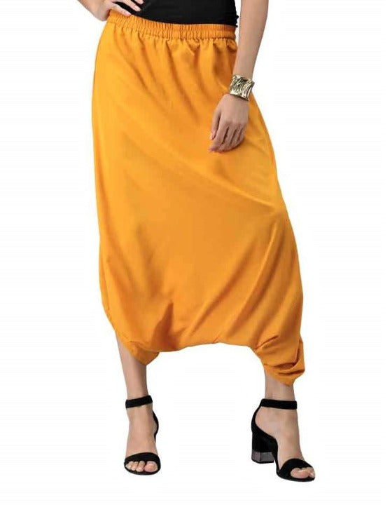 Women's Cowl Pants - Yellow