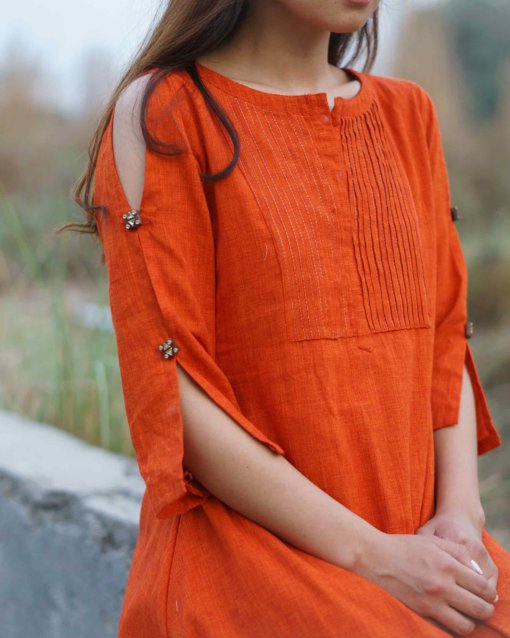 Gerua Tunic Dress – Rust