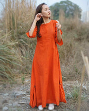 Come fall in love with our gorgeous Gerua Tunic made in handwoven cotton.