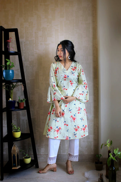 Women's aline cotton kurta