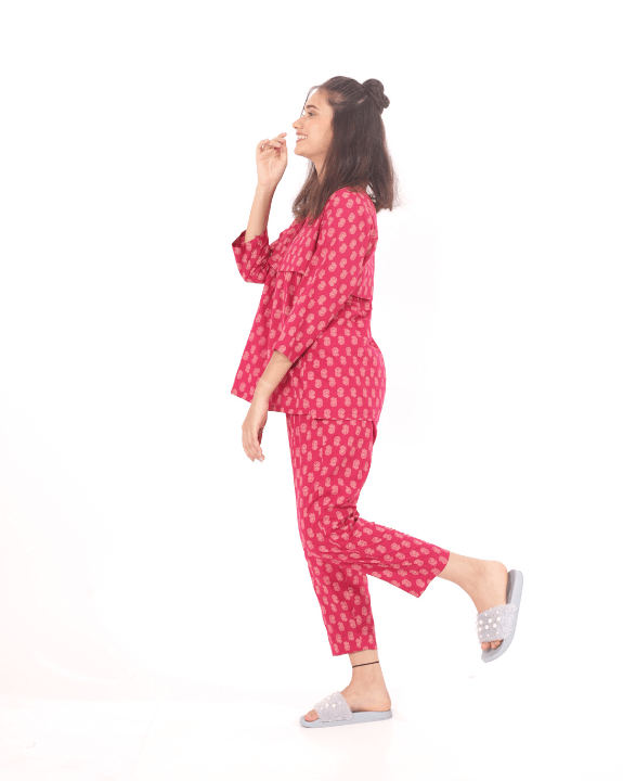 Try our women's night suit in cotton to chill in style