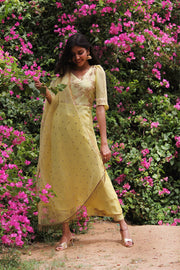 Kurta Palazzo set in Lime yellow for this festive season.
