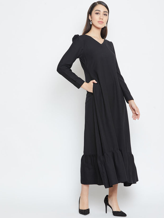 Black maxi dress for this winter shop them from thesvaya
