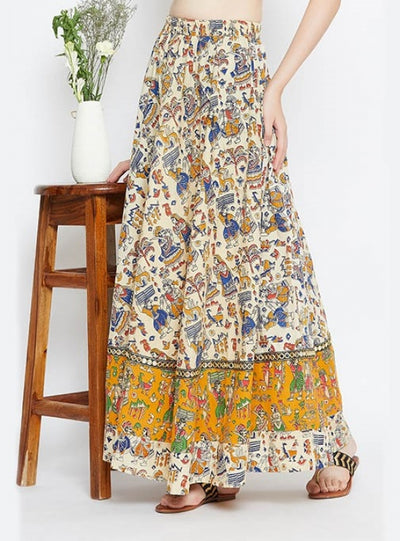 Cotton Kalamkari Printed Zarasa Skirt