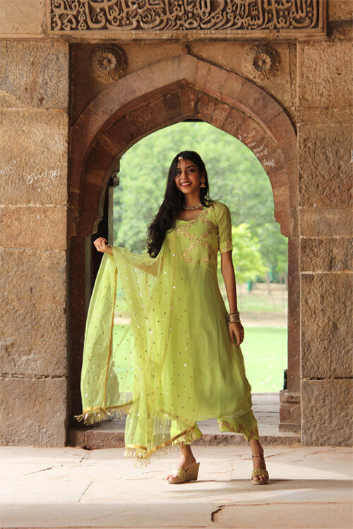 Own this amazing Green Palazzo Set from thesvaya