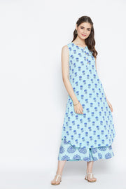 Blue Mogra Rayon - Set of 2