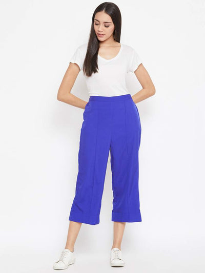 Blue Crepe Pants
