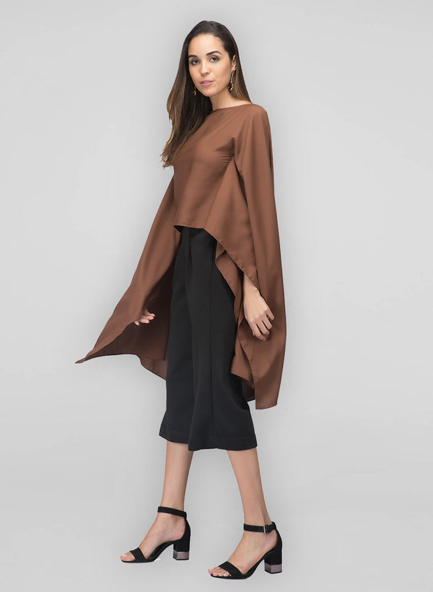 Brown Flared Top