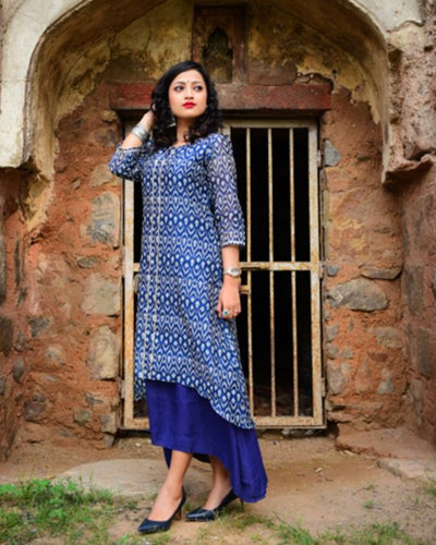 Style your wardrobe with this amazing block print kurta dress.