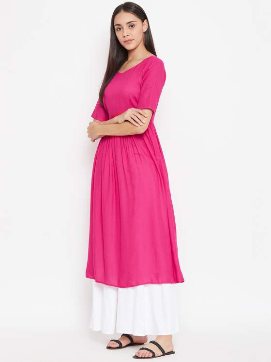 Gathered Pink kurta