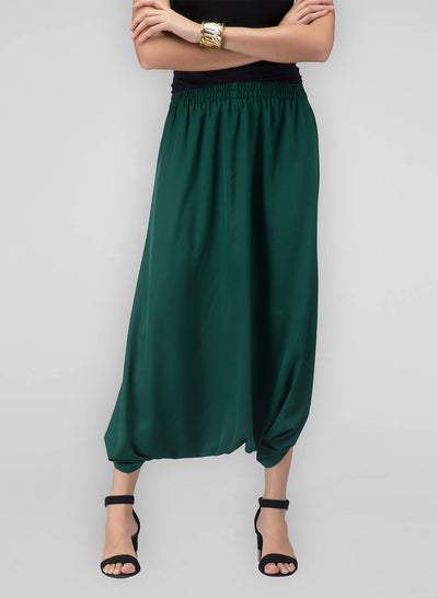 A pair of fusion cowl pants for women to dress up like a trendy diva