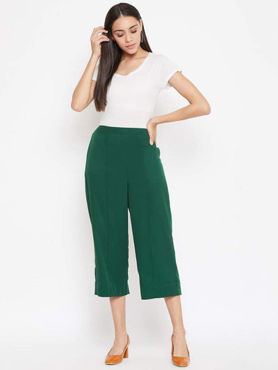 Women's dark green culottes