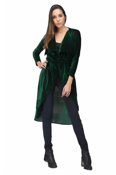 Green Cascade Velvet Jacket