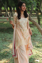 Stylish Peach Georgette kurta set only on thesvaya