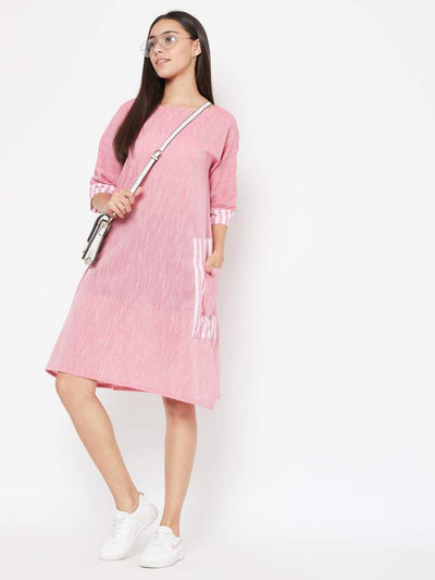 Pink Side Pocket dress