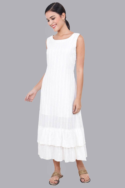 Women's White Long Dress For Summer