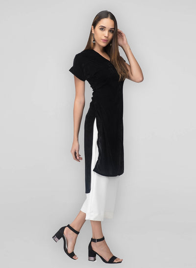 Black Velvet Kurta for women
