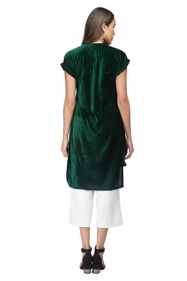 Green Velvet Touche For Women