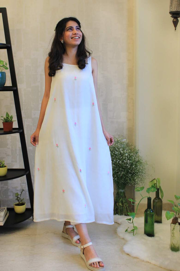 A-Line Rose Bud Dress