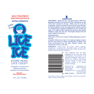 Lice Ice (4oz) Extra Strength Head Lice Treatment | Safe & Non-Toxic Gel for Kids and Adults | Doctor Recommended - Made in USA