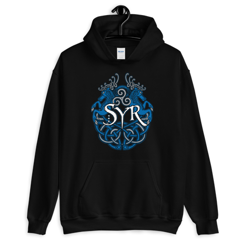 Syr - Woad Stags Pullover Hoodie