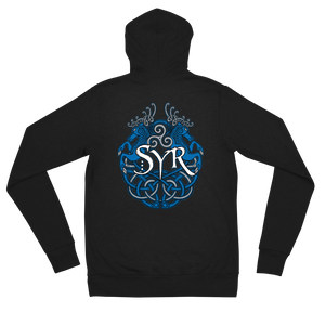 Syr - Woad Stags Zip Up Light Hoodie