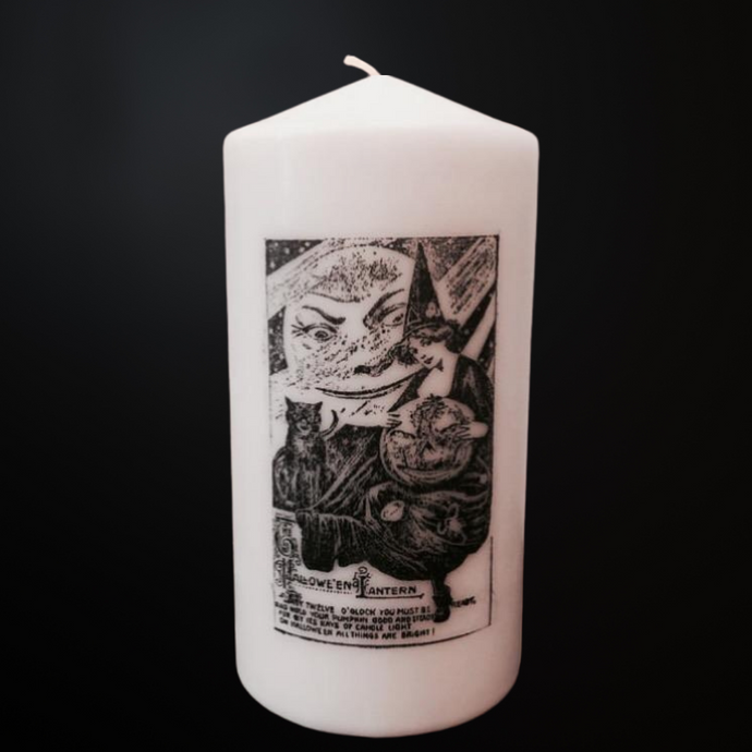 Vintage Halloween Lantern - Decor Candle