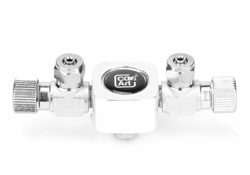 Aquarium 2 Way Brass CO2 Splitter til Solenoid og Regulator - CO2Art.co.uk | Akvarium CO2-systemer og Aquascape-spesialister