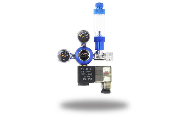 AquaBeat Aquarium CO2 regulator med forudindstillet arbejdstryk og magnetventil