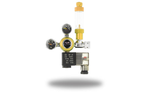 AquaBeat Aquarium CO2 Regulator with Pre-Set working pressure and Solenoid Valve