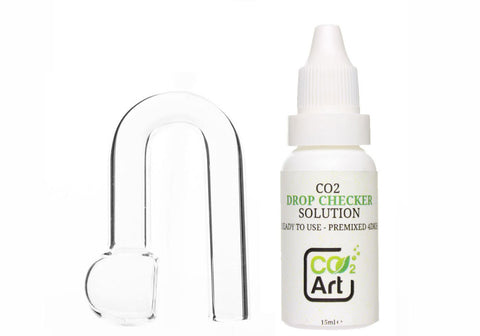 Aquarium Hanging U-Shape CO2 Drop Checker Complete Set - CO2Art.co.uk | Aquarium CO2 Systems and Aquascape Specialists
