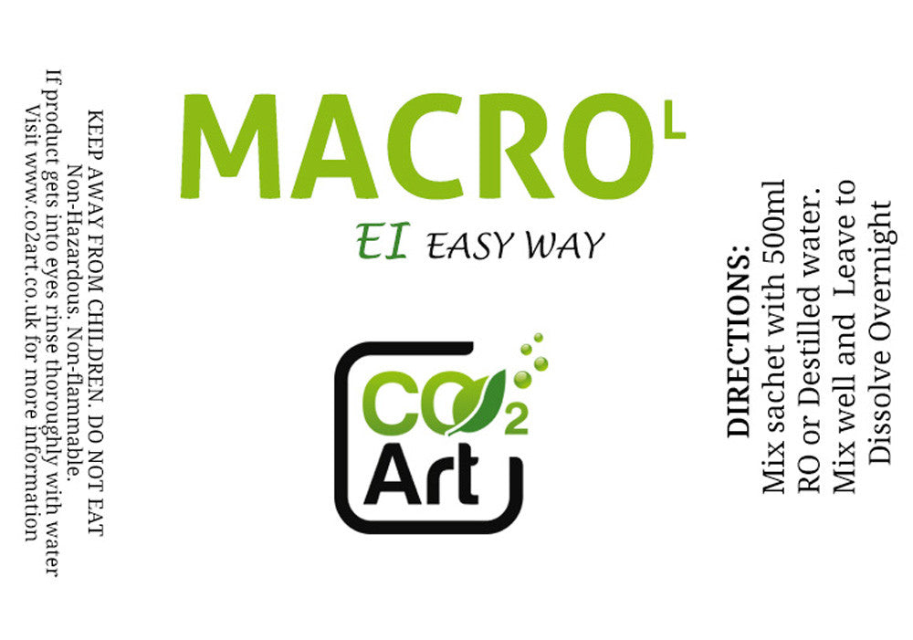 EI Macro Fertiliser Refill Sachet for Low Tech Planted Tank - EI Easy Way! - CO2Art.co.uk | Aquarium CO2 Systems and Aquascape Specialists