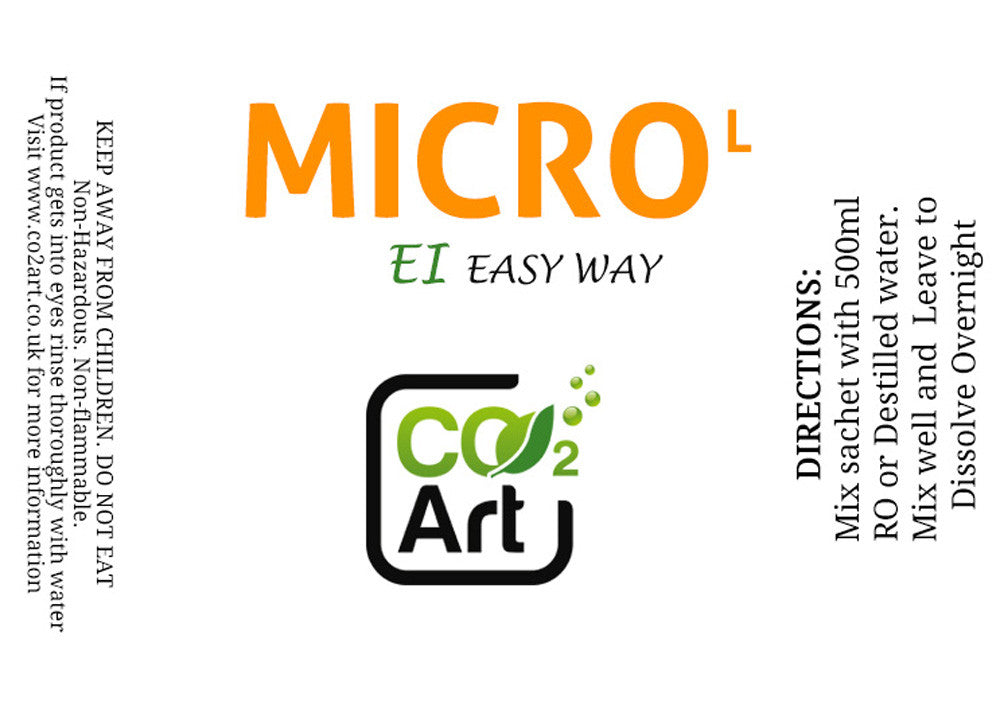 EI Micro Fertiliser Refill Sachet for Low Tech Planted Tank - EI Easy Way! - CO2Art.co.uk | Aquarium CO2 Systems and Aquascape Specialists
