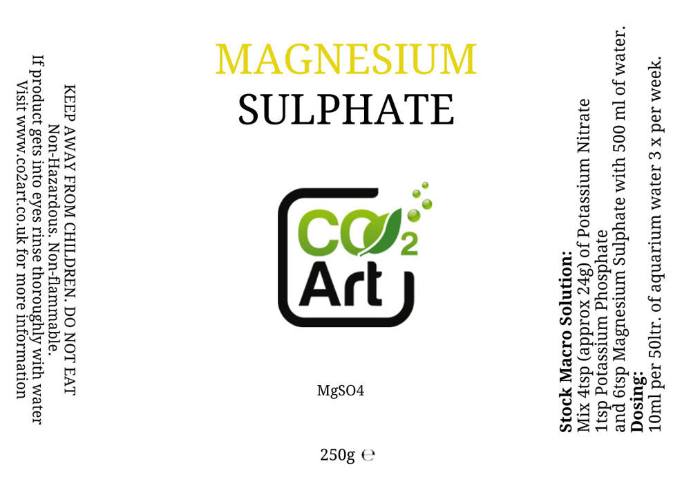 Magnesiumsulfaatti (MgSO4) - CO2Art.fi | Aquarium CO2 Systems ja Aquascape Specialists - 2